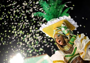 Rio Carnival: Imperatriz samba school performs during the first night of carnival parade
