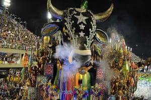 Rio Carnival: Revellers of the Beija Flor samba school