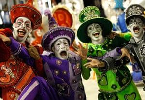 Rio Carnival: Performers from the Renascer de Jacarepagua samba school