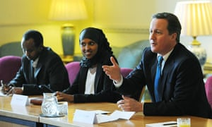 David Cameron meets British Somalis
