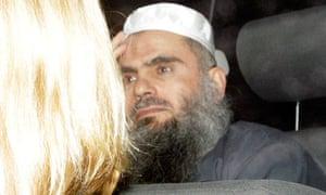 Abu Qatada is driven from Long Lartin Prison in South Littleton