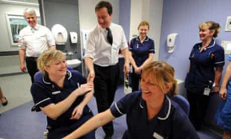 Cameron and Lansley visit hospital