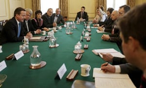 David Cameron speaks at Downing Street during the summit on the proposed NHS reforms