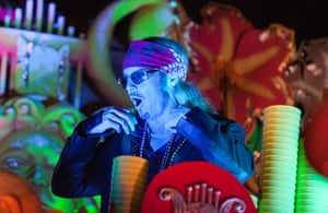 Mardi Gras: Bret Michaels rides on a float with the Krewe of Orpheus