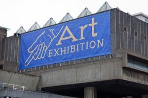 Jeremy Deller: 'Art Exhibition' banner by Jeremy Deller