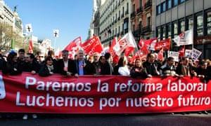 Spanish protests againt labour reform