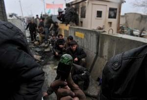Bagram protest: rubber bullet