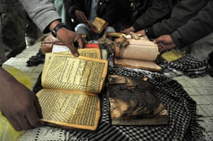 Bagram protest: copies of the Qur'an