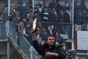 Bagram protest: half-burnt Qur'an