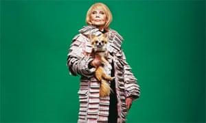 Super-rich woman in money coat