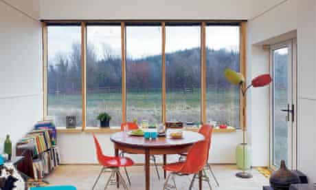 Irish self-build house: dining area