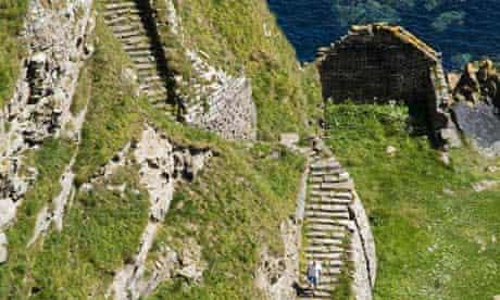 steep stone steps, Caithness