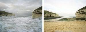Sea change: tide pictures: Flamborough, Yorkshire