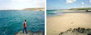 Sea change: tide pictures: Perranporth, Cornwall