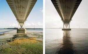 Sea change: tide pictures: Severn Bridge