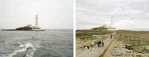 Sea change: tide pictures: St Mary's lighthouse, Northumberland