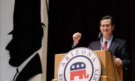 Rick Santorum in Phoenix, Arizona