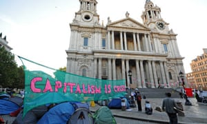 Occupy demonstrators outside St Paul's Cathedral
