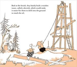 Tomi Ungerer: Illustration from Tomi Ungerer's The Mellops Strike Oil