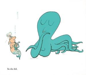 Tomi Ungerer: Illustration from Tomi Ungerer's Mellops Go Diving for Treasure