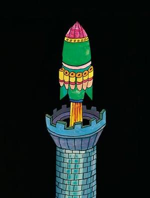 Tomi Ungerer: Illustration from Tomi Ungerer's Moon Man
