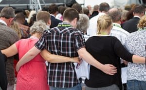 Christchurch memorial: Families support each other
