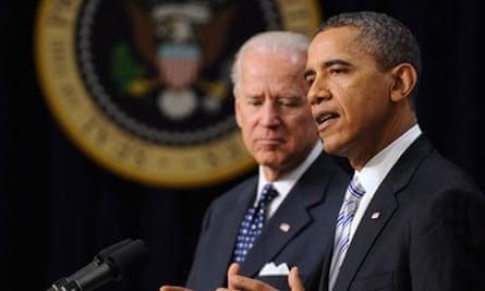Barack Obama with Joe Biden
