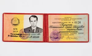 KGB: Karpichkov's KGB card, showing his rank of captain