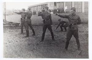 KGB: Karpichkov (far right) training at the KGB centre in Minsk