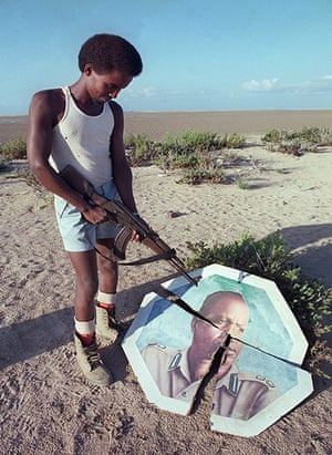 Somalia timeline: a rebel militiaman