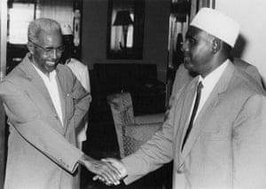 Somalia timeline: Aden Abdullah Osman Daar with Abdirashid Ali Shermarke