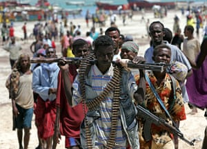 Somalia timeline: militia from the Islamic Courts Union walk at the El Maan