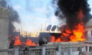 Homs under fire