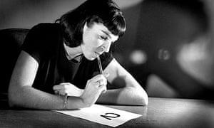 Woman writing CV