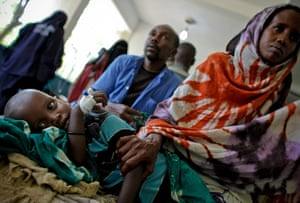 Somalai timeline: a malnourished and dehydrated young child in Banadir Hospital