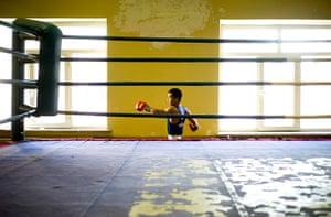 from the agencies: Kieran Doherty in Mongolia - Tugstsogt Nyambayar in a gym in Ulan Bator