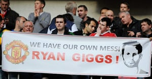 Giggs: United fans at the 2011 Champions League Final