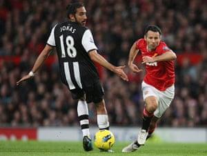 Giggs: Ryan Giggs skins Newcastle's Jonas Gutierrez