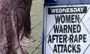 Newspaper headline warning of rapist