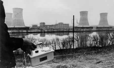 Three Mile Island, geiger counter testing, 1979