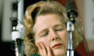 Margaret Thatcher Falling Asleep at Conference
