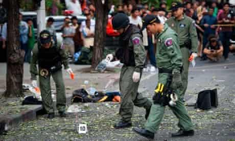 Thai police investigate blast