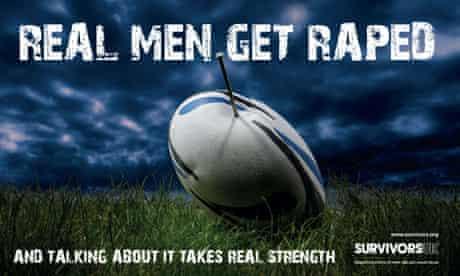 Survivors UK male rape poster
