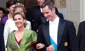 Iñaki Urdangarín and Princess Cristina