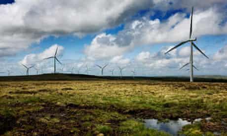 Whitelee's onshore wind farm in East Renfrewshire