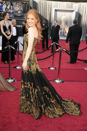 Oscars red carpet: Jessica Chastain