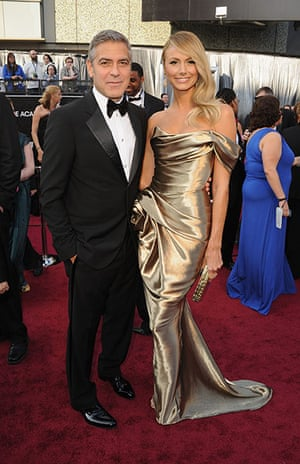 Oscars red carpet: George Clooney, Best Actor nominee, in Giorgio Armani