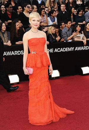 Oscars red carpet: Michelle Williams, Best Actress nominee, in Louis Vuitton