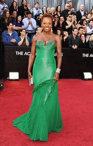 Oscars red carpet: Viola Davis, Best Actress nominee, in Vera Wang