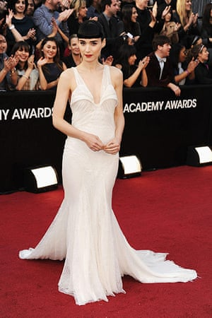 Oscars red carpet: Rooney Mara, Best Actress nominee, in Givenchy Couture